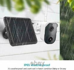 1080P Battery Solar Powered Wireless WiFi IP 4CH NVR Camera System Two-Way Audio
