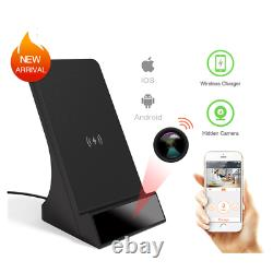 1080P HD WiFi Surveillance Wireless Phone Charger Camera Security Cam Live View