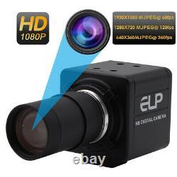 1080P USB Kamera 60fps/120fps/260fps Manuelle zoom Vario Objektiv UVC Webcam 2MP