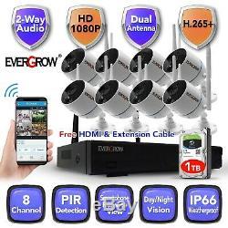 2020 Wireless Audio 1080P Outdoor indoor IP WIFI Camera CCTV Security System Kit