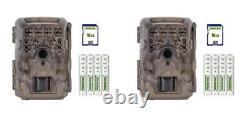 (2) Moultrie M-4000I Scouting Trail Cam Security Camera 16MP Batteries + SD Card