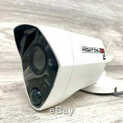 2 Night Owl 5 MP HD 5.0 UHD White Bullet Security Video Camera w 60 ft Cable NEW
