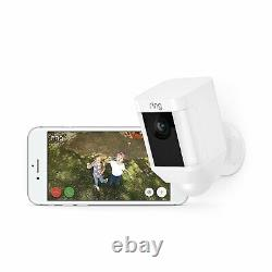 (2 Pack) Ring Spotlight Cam Battery HD Security Camera Two-Way Talk Alarm, White