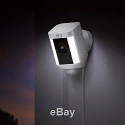 2 Pack Ring Spotlight Cam Wired Security Camera 8SH1P7-WEN0 White Brand New