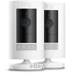 (2-Pack) Ring Stick Up Cam Wire Free Indoor/Outdoor Security Camera (3rd Gen)