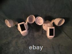 2 Ring Floodlight Cameras Motion-Activated HD Security Cam 2-Way Talk Siren