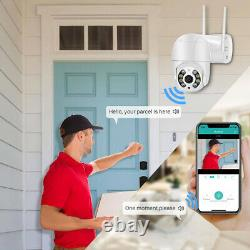 2x 1080P IP WIFI Camera Wireless Outdoor CCTV HD PTZ Smart Home Security IR Cam