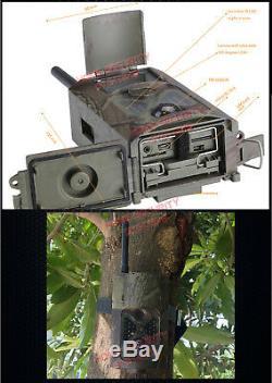 3G Security Trail Camera 32GB Wireless Solar GSM MMS Home Farm Cam IR 1080P