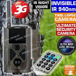 3G Trail Camera GSM MMS GPRS Wireless 1080P HD Security Alarm Cam No Spy Hidden