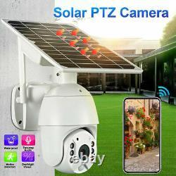 4G 1080P HD Solar Power PTZ IP Camera Security CCTV Waterproof Outdoor Cam USA
