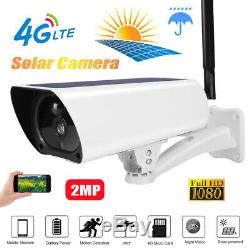 4G 2MP 1080P Solar Wireless IP Camera Outdoor Security CCTV Night Vision HD Cam