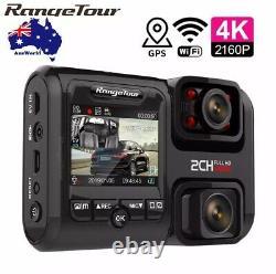 4K WIFI Car DVR Night Vision Dual Camera Dash Cam Recorder Best Uber Security