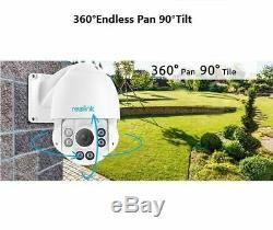 5MP PoE IP Camera Pan Tilt 4x Optical Zoom Security Cam Outdoor Reolink RLC-423