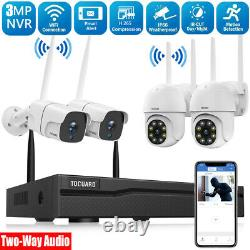 8CH NVR WiFi Security Camera System Wireless 3MP CCTV Outdoor Cam IR NightVision