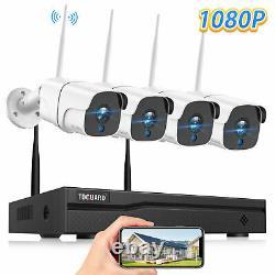8CH NVR Wireless IP Cam CCTV 1080P Outdoor Surveillance Security Camera System