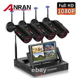 ANRAN 1080P Outdoor Wireless Security WIFI Camera System 7''LCD Monitor CCTV NVR