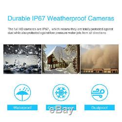 ANRAN 1080P Security Camera System Audio Wireless 2TB Hard Drive Outdoor Home HD
