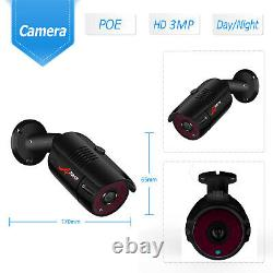 ANRAN 3MP HD Video Security Camera System POE 8CH NVR 3MP 8Cams IR Outdoor IP66