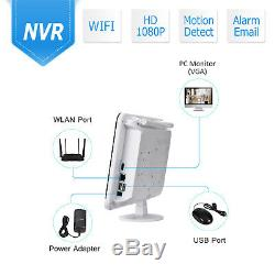 ANRAN 8CH 12 Monitor 1080P Wireless Security Camera System Outdoor 1TB HDD CCTV