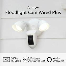 All-New 2021 Ring Floodlight Cam Wired Plus with Motion-Activated 1080p HD Video