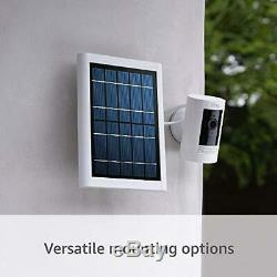 All-new Ring Stick Up Cam Solar HD security camera two-way talk Solar Panel