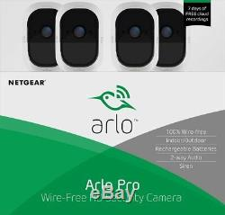Arlo Pro In/Outdoor HD Wire Free Security Sys w 4 cam VMS4430-100NAR