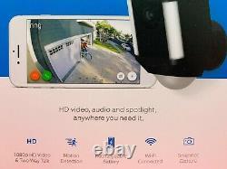 BRAND NEW RING Spotlight Camera HD BATTERY Wireless OUTDOOR Security Cam-BLACK