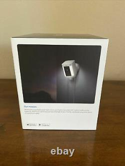 BRAND NEW! Ring Spotlight Cam Security Camera White WIRED 1 Year Warranty
