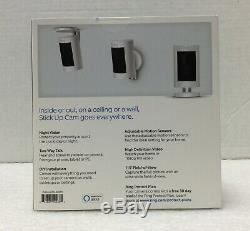 BRAND NEW Ring Stick Up Cam Indoor/Outdoor Security Camera White Battery