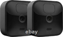 Blink Outdoor 2 Cam Kitwireless, weather-resistant HD security camera wit