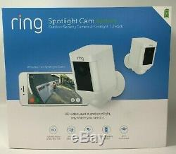 Brand New Ring Spotlight Cam Battery outdoor security camera 2-Pack Sealed