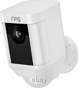 Brand New Ring Spotlight Cam Outdoor Battery-Powered Security Camera White