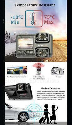 Dual Dash Camera 64GB GPS BEST WIFI Wireless Car Taxi Security Cam Truck Uber