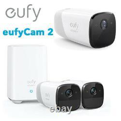 Eufy 1080P Wireless Security Camera System eufyCam 2 Outdoor Night Vision 2-Cam