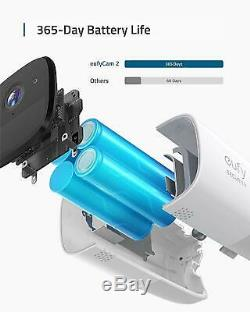 Eufy Security eufyCam 2 Wireless Home Security Camera System 2-Cam Kit 1080p