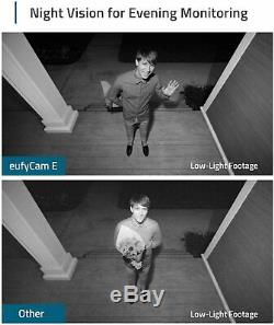 Eufy Wireless 1080P FHD 3-Cam IP65 Home Security System Night Vision 3 Camera