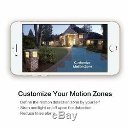 Freecam Floodlight Camera Motion-Activated Security Cam Two-Way Talk, Siren Alarm