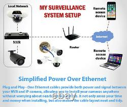 GW 8 Channel 8MP 4K NVR 6 5MP 1920P PoE IP Cam Home Dome Security Camera System