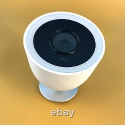 Google Nest Cam IQ A0055 NC4100US Outdoor Security Camera White #U0845