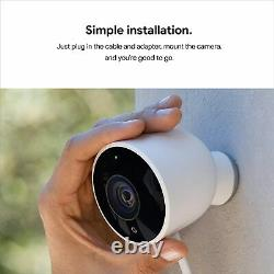 Google Nest Cam Outdoor HD Security Camera Wi-Fi 1080P Wired with Night Vision