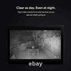 Google Nest Cam Outdoor Weatherproof Camera with Night Vision for Home Security