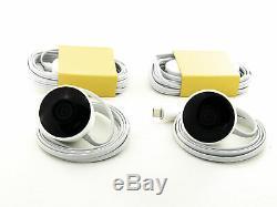 Google- Nest Cam Outdoor Wi-Fi Surveillance Cameras (2-Pack)- White NC2400ES