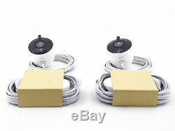 Google Nest Cam Outdoor Wi-Fi Surveillance Cameras (2-Pack) White NC2400ES
