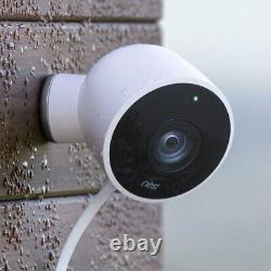 Google Nest NC2400ES Nest Cam Outdoor Security Camera 2 Pack Smart Home, White