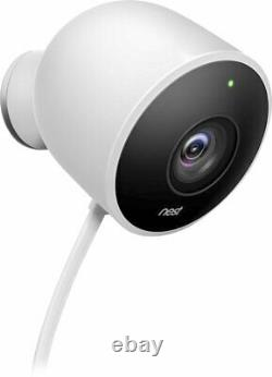 Google Nest Outdoor Security Cam, App controlled 2 Pack NC2400ES (renewed)
