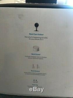Google Nest Secure Alarm System + Nest Cam Indoor Security Camera Bundle- NEW