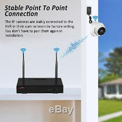 HD 1080P Audio Security Camera System Outdoor Wireless 8CH NVR with 2TB CCTV NVR