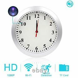 HD 1080P WiFi Camera Wall Clock Motion Detection, Security For Home Office, Cam