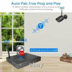 HISEEU 8 Channel HD 1296P Wireless Network IP Security Camera System Outdoor 3TB