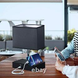 Hidden Spy Camera 4K WiFi P2P Lamp Charging Station Bedside Lamp Nanny Cam